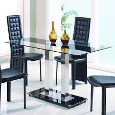 Glass Dining Table And Chairs Global Furniture D2108n Dt Glass Dining Table With Metal Legs