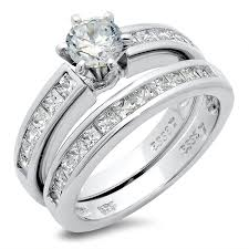 married ring sterling silver cubic zirconia cz wedding engagement
