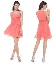 v neck short coral bridesmaid dresses under 100 cap sleeves