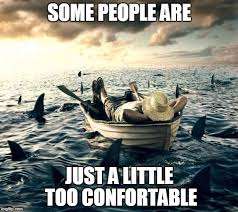 Boat People Meme - man shark boat relaxed memes imgflip