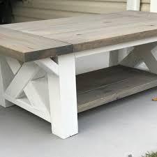 build a coffee table diy chunky farmhouse coffee table diy woodworking plans handmade