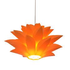 Orange Pendant Light Flowers L Pendant Lights Material Of Pvc Diameter 40 50 60
