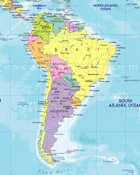 South America Map Countries South America