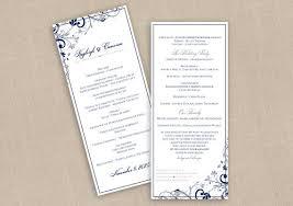 tea length wedding program diy wedding program instantly editable text chic