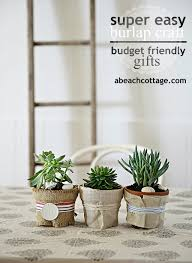 burlap crafts ideas for pots life by the sea