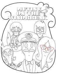 bobs burgers coloring pages just colorings