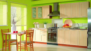 kitchen style tropical design green wall green color modern