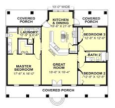 southern style house plan 3 beds 2 baths 1640 sq ft plan 44 168