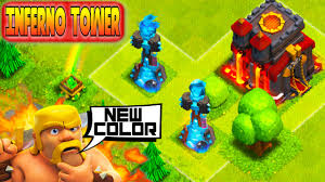 clash of clans clash of clans blue inferno tower lvl 4 update hero customize