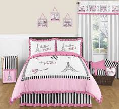 Eiffel Tower Bedding Bedroom Idea For Teen Girls Bedroom - Eiffel tower bedroom ideas