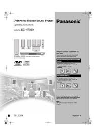 panasonic home theater manual panasonic sc ht500 user manual 40 pages