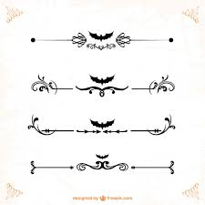 classic ornaments and dividers for designs vector free