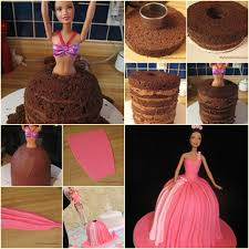wonderful diy pretty barbie princess cake