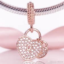 rose gold love heart bracelet images New arrivel 2017 autumn rose gold collection s925 love locks jpg