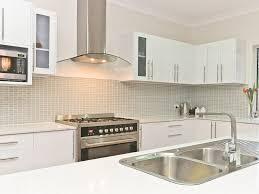 white kitchen and funky tiled splashback splashbacks