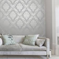 Wallpaper Interior Design Best 25 White And Silver Wallpaper Ideas On Pinterest Gold