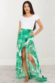 oceans away high low maxi skirt bottoms clothing