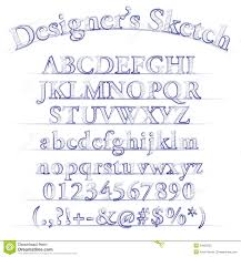 vector designer sketch alphabet stock photography image 34859522