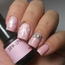 pink nail designs for breast cancer