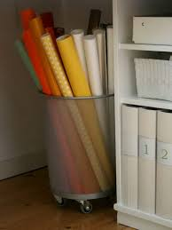 wrapping paper holder creative wrapping paper storage ideas
