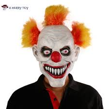 x merry toy scary clown mask wide smile latex evil creepy
