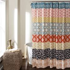 Turquoise Shower Curtains Bohemian Stripe Shower Curtain Turquoise Orange Walmart
