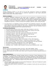 Resume For Superintendent Position Scaffolding Superintendent Cv