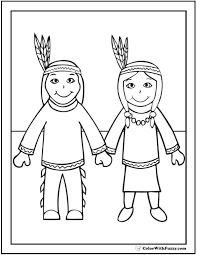 Indian Thanksgiving 68 Thanksgiving Coloring Page Customizable Pdfs
