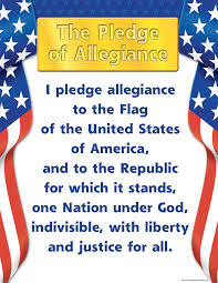 Flag Of The United States Of America Pledge Of Allegiance U2013 I Pledge Allegiance To The Flag Of The