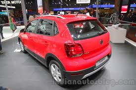 volkswagen polo 2016 red 2016 vw cross polo rear left quarter at the auto expo 2016