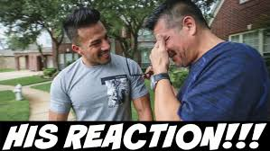 i bought my dad a car this is his reaction youtube