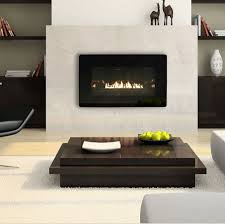 Wall Mount Fireplaces In Bedroom Decorations Unique Modern Central Fireplace Beside Sofa Bed And
