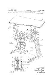 Drafting Table Height by Patent Us3364881 Drafting Table With Single Pedal Control Of
