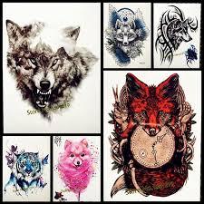 aliexpress com buy red fox designs flash tattoo body art