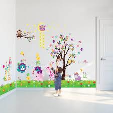 wall stickers uk wall art stickers kitchen wall stickers c3wad00001 walplus wall sticker owl moon animal tree