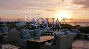 live aqua boutique resort playa del carmen youtube