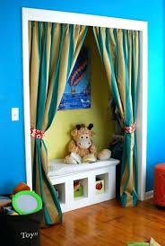 alternative closet door nursery projects crib skirt and closet