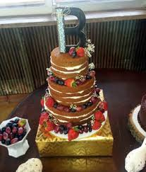 Wedding Cake No Icing Kayla Knight Cakes Blog