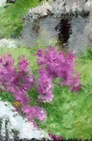 lilac season as seen through an ipad painting app drawntodetails