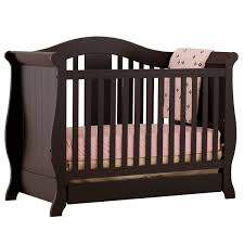 Espresso Convertible Cribs Storkcraft Espresso Vittoria 3 In 1 Fixed Side Convertible Crib