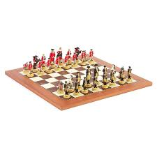 15 inch civil war chess set with pewter chessmen hayneedle