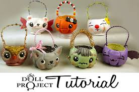 halloween candy pails pdf tutorial for doll costumes and