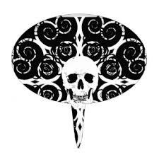 skull cake topper skull cake toppers zazzle