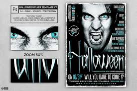 blank halloween flyer background halloween flyer template 7 ready to customize with photoshop