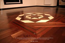 no 24 the 8 rays df ii hardwood floor medallion inlay installed