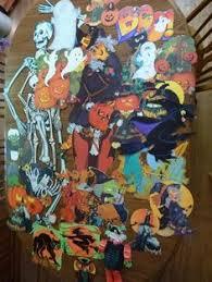 Vintage Halloween Skeleton Decorations by Vintage Decorations Ex Large Halloween Paper Diecuts Cutouts