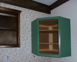 Kitchen Corner Wall Cabinet by Corner Wall Cabinet Example Of A Trendy Kitchen Design In San