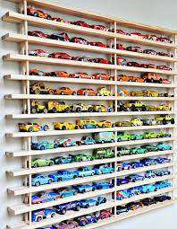 Plans For Wooden Toy Garage by Matchbox Car Shelf System Diy Toy Organizing Ideas