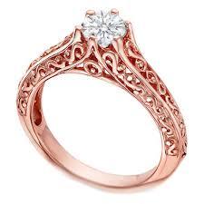 pink gold engagement rings european engagement ring 18 karat pink gold filigree