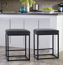 kitchen cabinet height from countertop maison arts counter height 24 bar stools set of